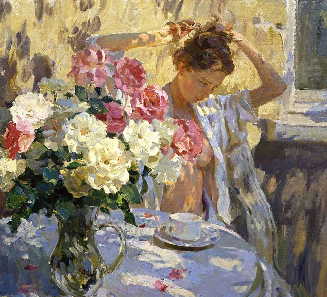 "Юрий Кротов (Yuri Krotov), ""Morning in the garden"""