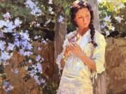 """Юрий Кротов (Yuri Krotov), """"Романтическое настроение в цветущем саду"""""""