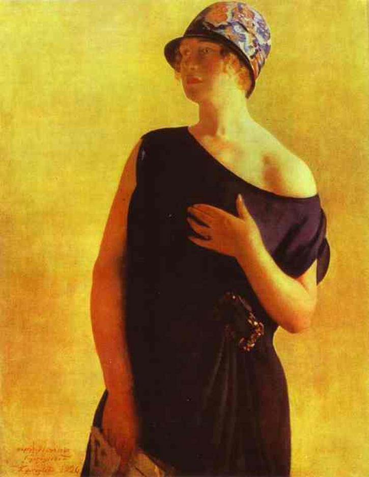 Борис Кустодиев (Boris Kustodiev), Портрет, 1926 г.