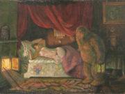 Борис Кустодиев (Boris Kustodiev), Купчиха и домовой, 1916 г.