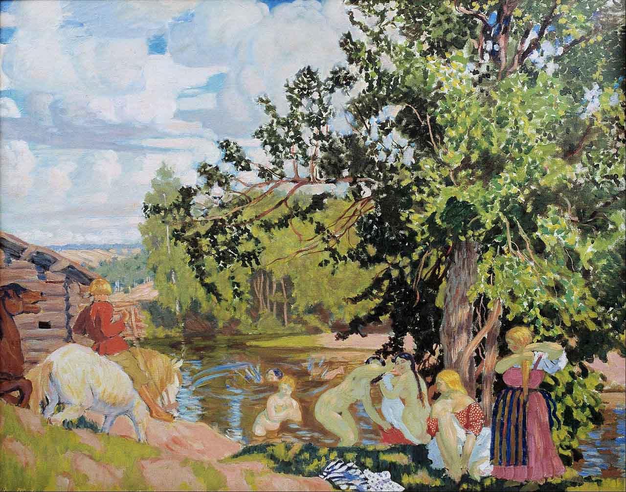 Борис Кустодиев (Boris Kustodiev), The Bath
