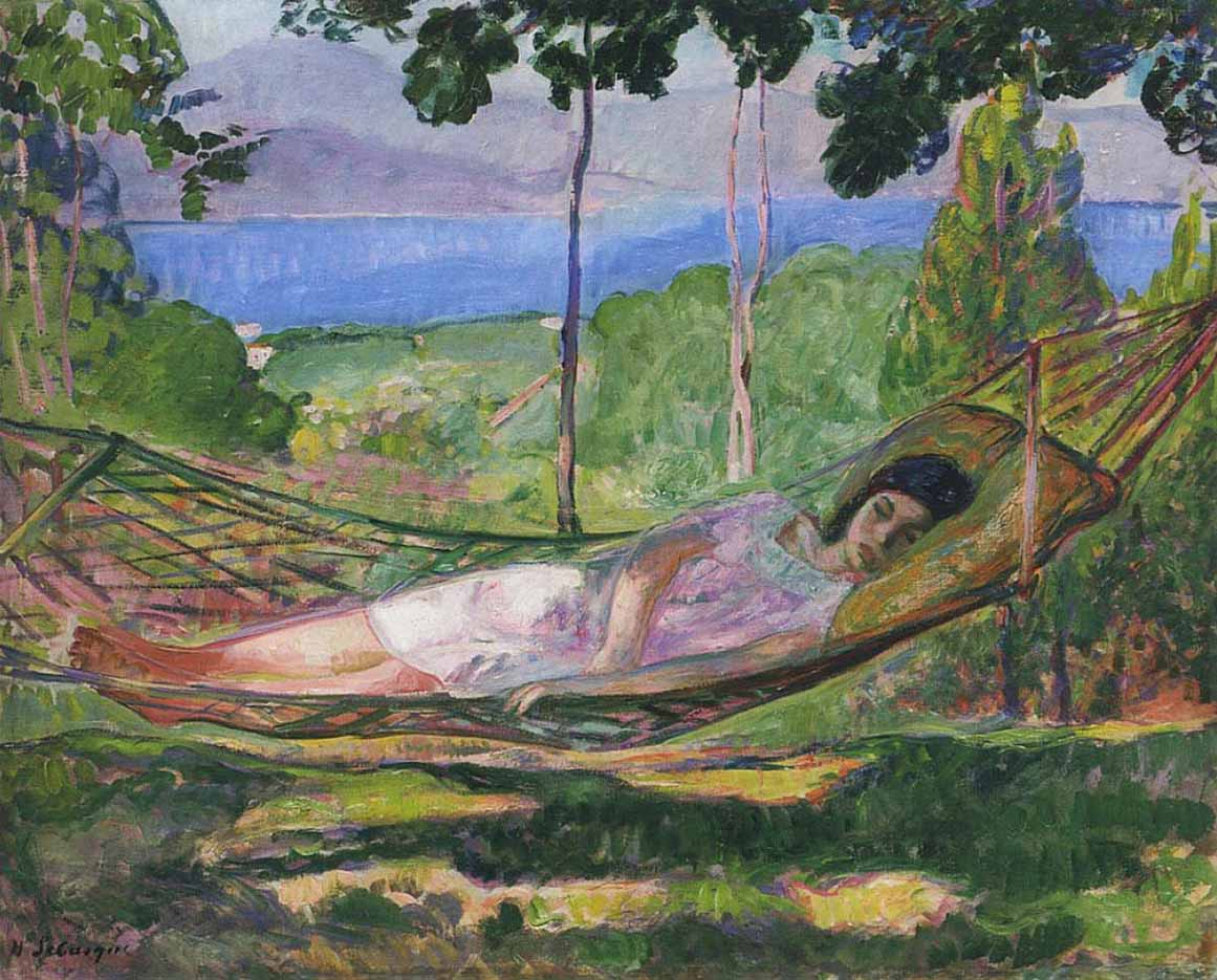 "Анри Лебаск (Henri Lebasque) ""The last villa in Saint-Tropez"""