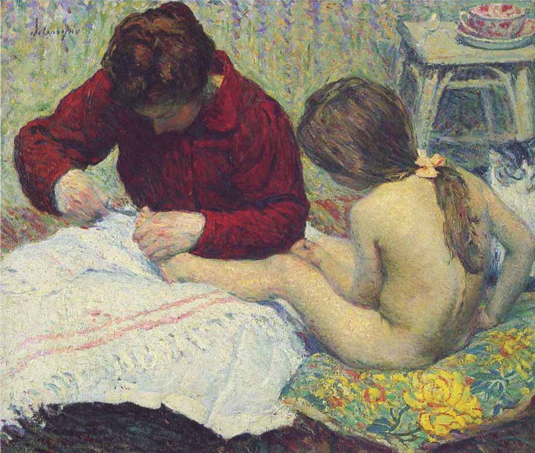 "Анри Лебаск (Henri Lebasque) ""Мадам Лебаск с дочерью"""