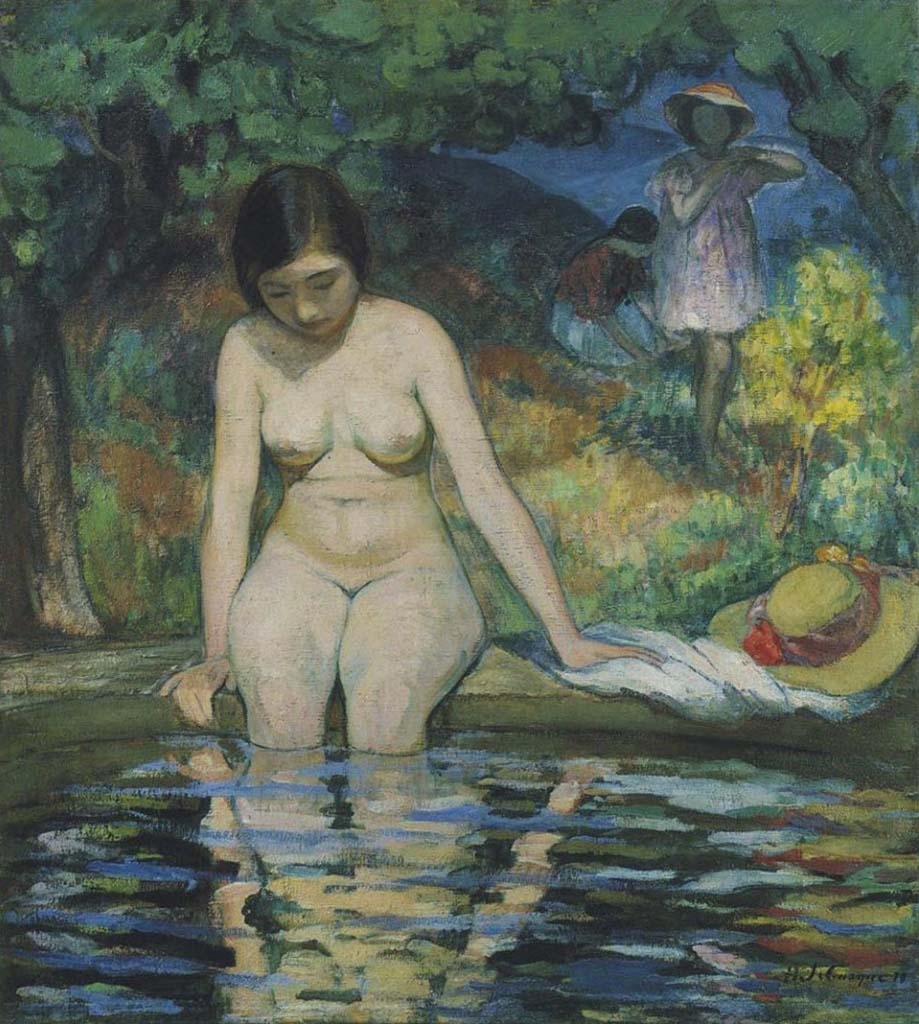 "Анри Лебаск (Henri Lebasque) ""The Bather"""