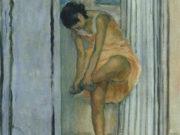 """Анри Лебаск (Henri Lebasque) """"Женщина, меняющая обувь"""""""