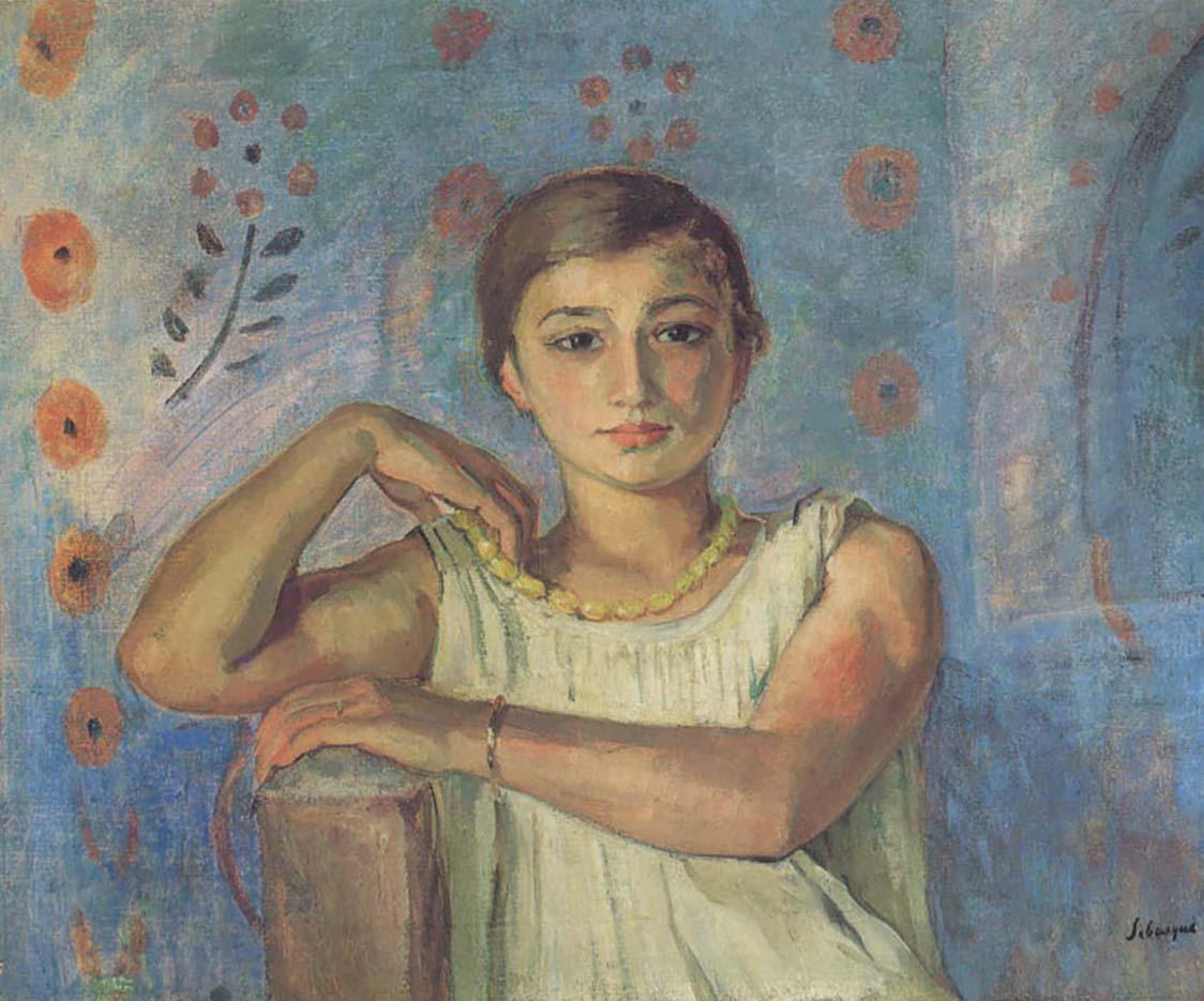 "Анри Лебаск (Henri Lebasque) ""Ноно в желтом ожерелье"""