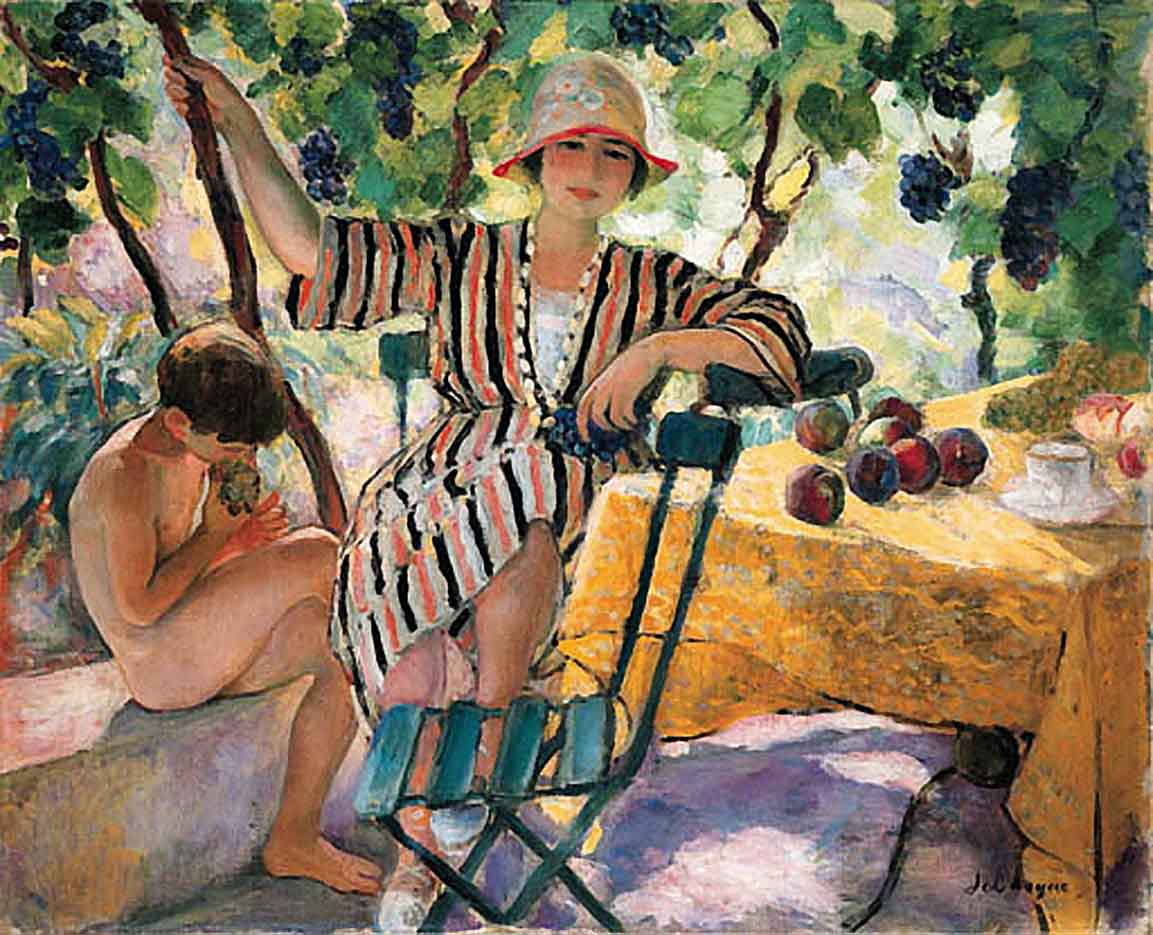 "Анри Лебаск (Henri Lebasque) ""The Garden at Summer, Saint-Tropez"""