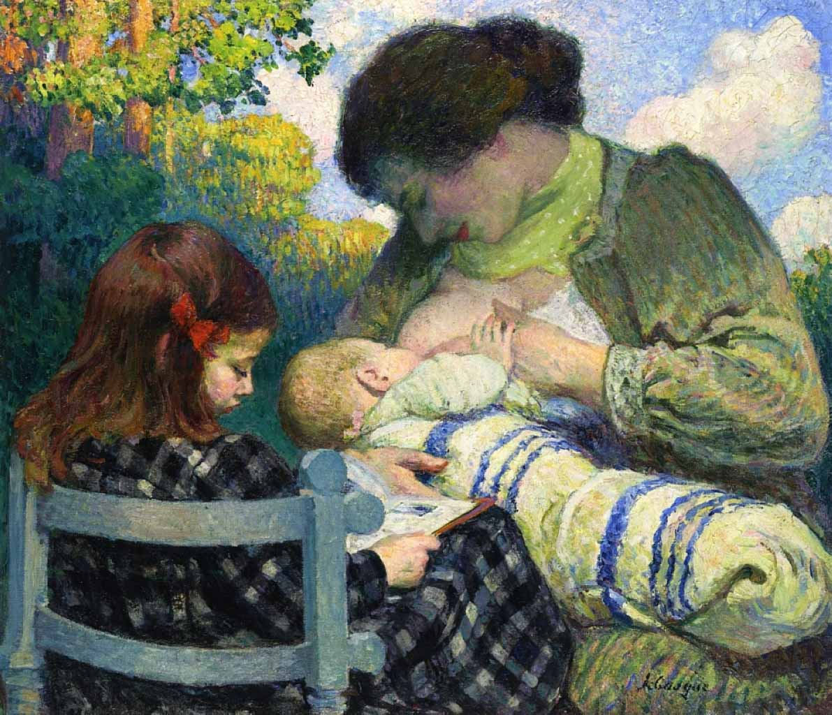 "Анри Лебаск (Henri Lebasque) ""Maternity. Madame Lebasque and her children"""
