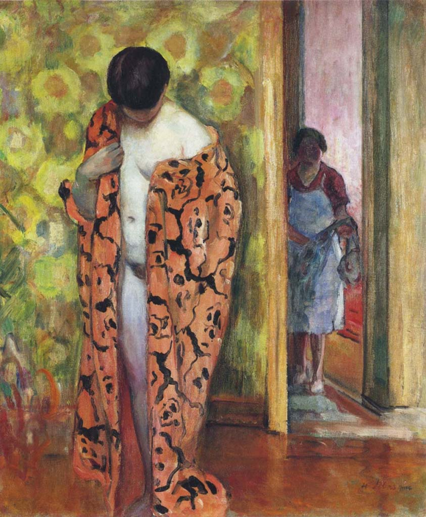 "Анри Лебаск (Henri Lebasque) ""Japanese dressing gown"""