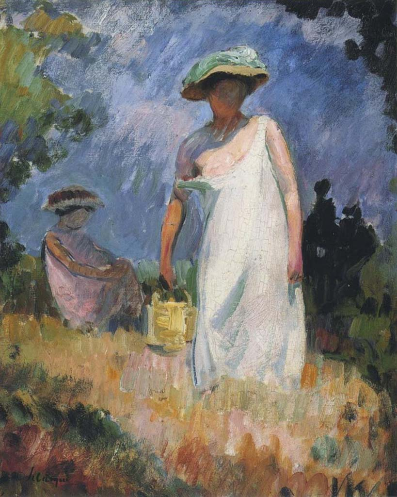 "Анри Лебаск (Henri Lebasque) ""Mother and Child (2)"""