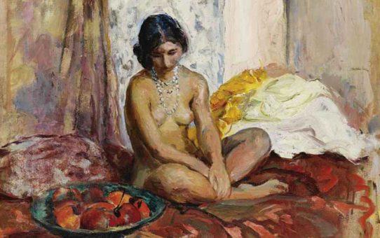 """Анри Лебаск (Henri Lebasque) """"Египтянка с тарелкой фруктов"""""""