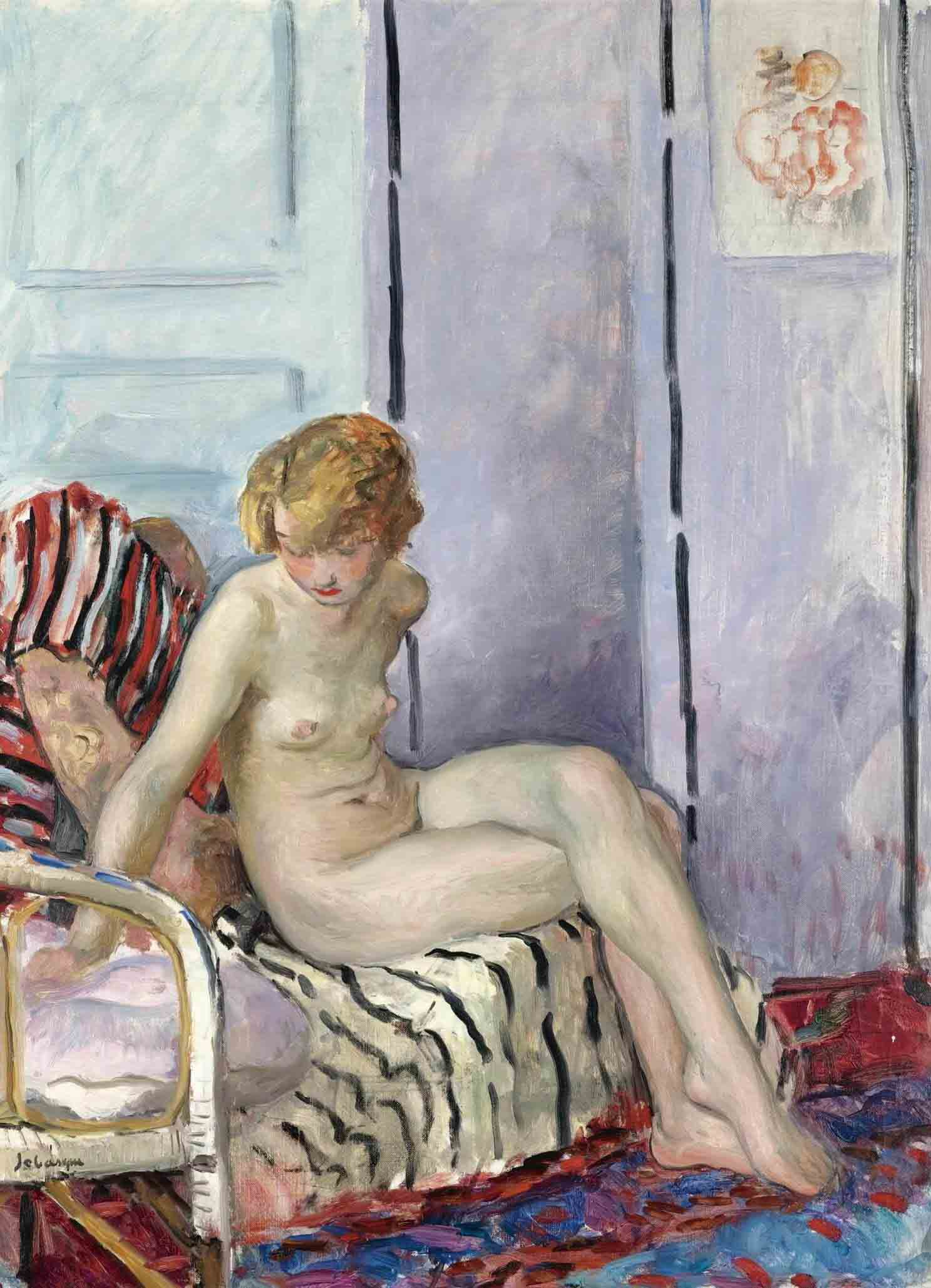 "Анри Лебаск (Henri Lebasque) ""Nude in Armchair"""