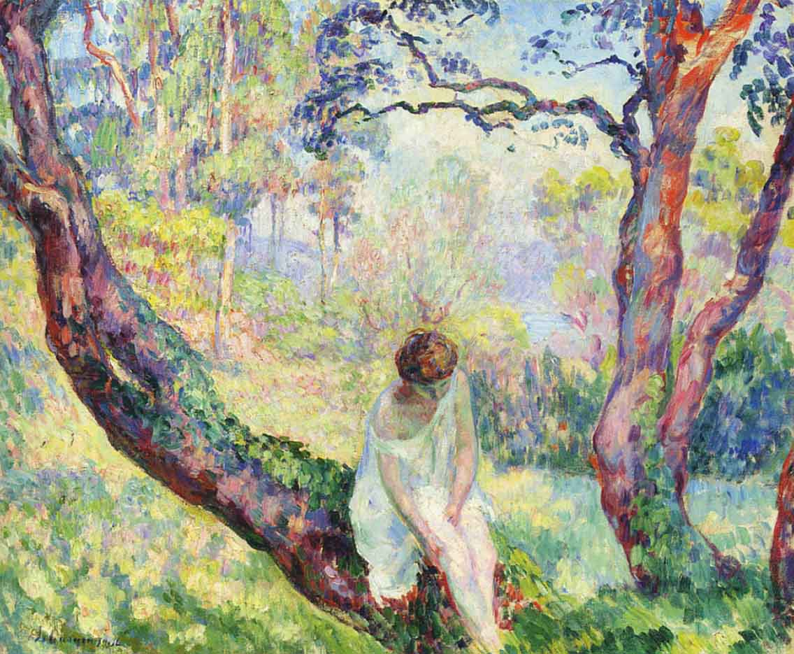 "Анри Лебаск (Henri Lebasque) ""Woman in the Landscape"""