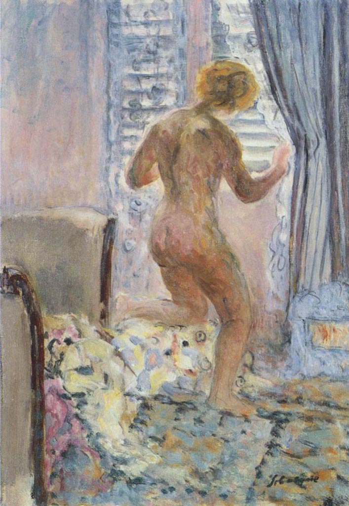 "Анри Лебаск (Henri Lebasque) ""Female Nude by the Window"""
