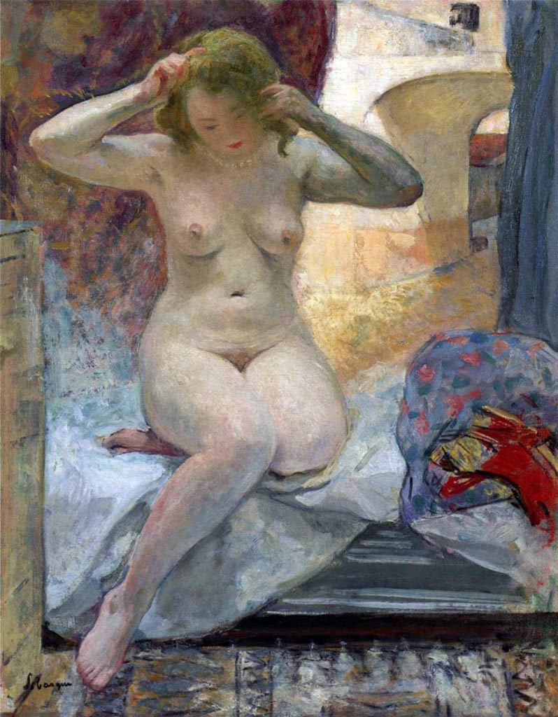 "Анри Лебаск (Henri Lebasque) ""Naked in Cannes"""