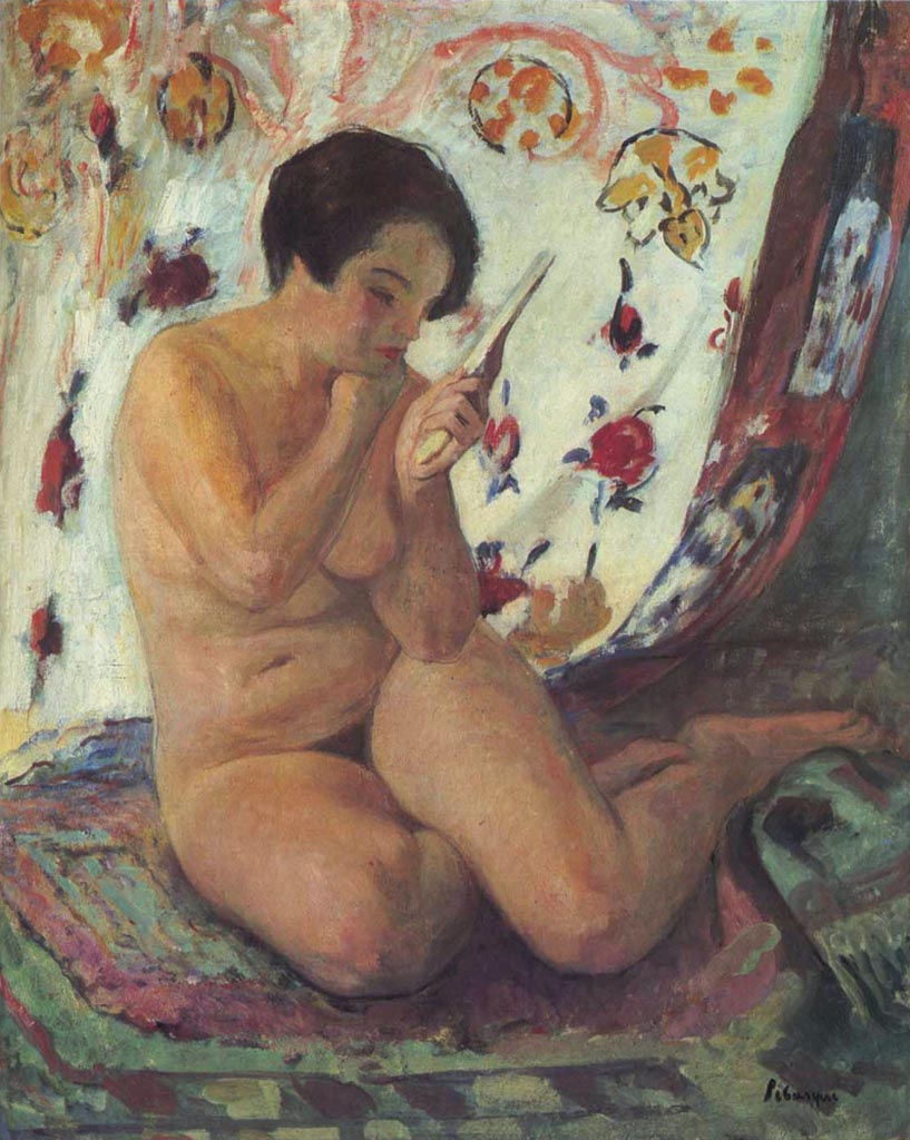 "Анри Лебаск (Henri Lebasque) ""Nude at the Mirror"""