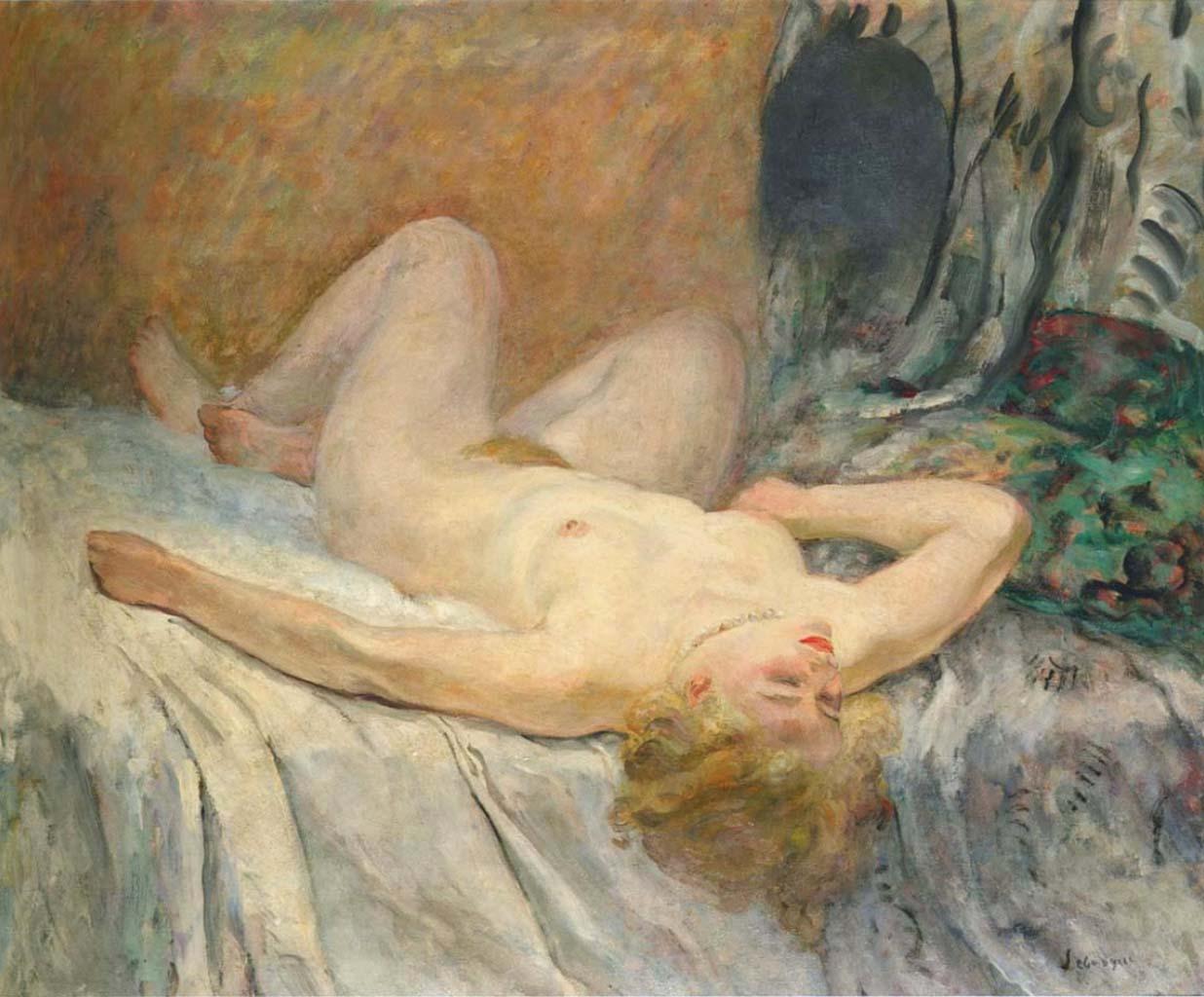 "Анри Лебаск (Henri Lebasque) ""Nude (2)"""