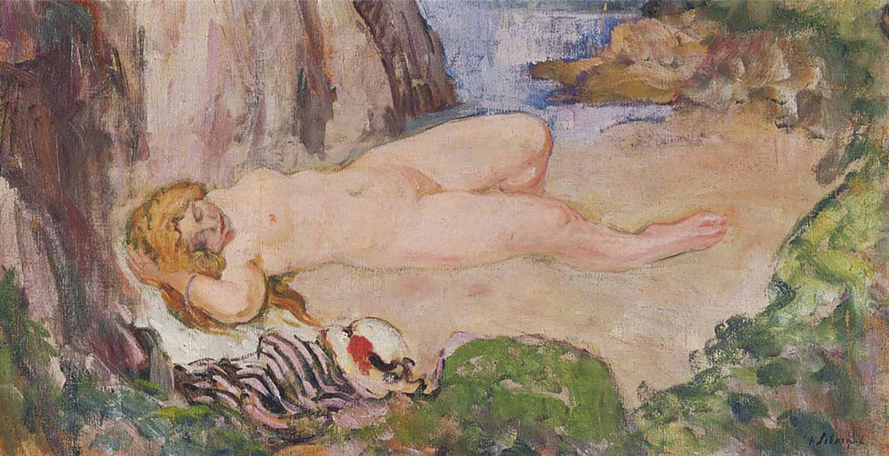 "Анри Лебаск (Henri Lebasque) ""Naked on the nature"""