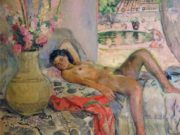 "Анри Лебаск (Henri Lebasque) ""Nude (3)"""