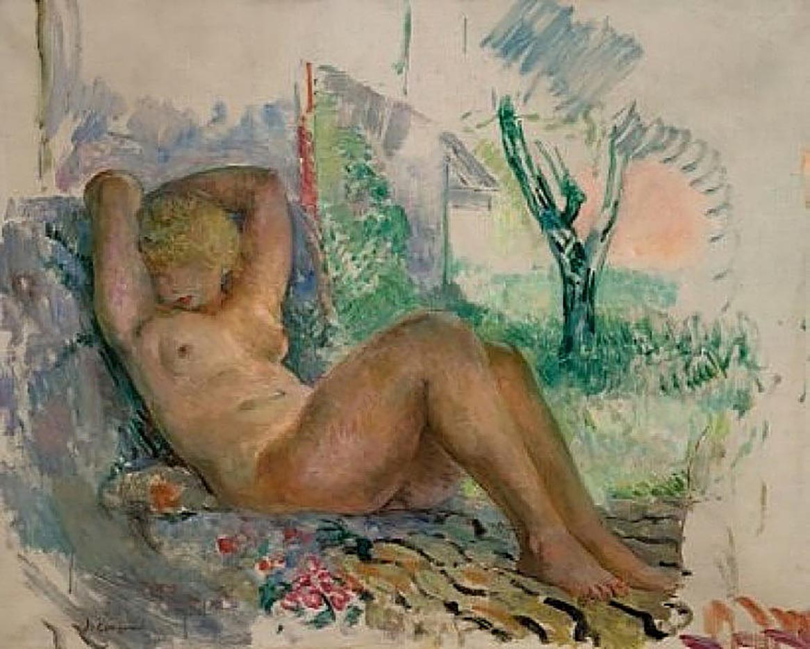 "Анри Лебаск (Henri Lebasque) ""Маринетта Эндорми ле Кане"""