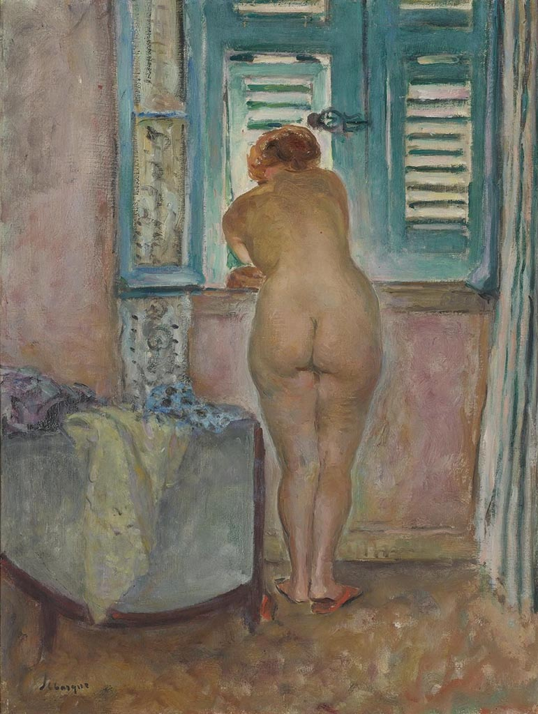 "Анри Лебаск (Henri Lebasque) ""Female Nude by the Window (2)"""