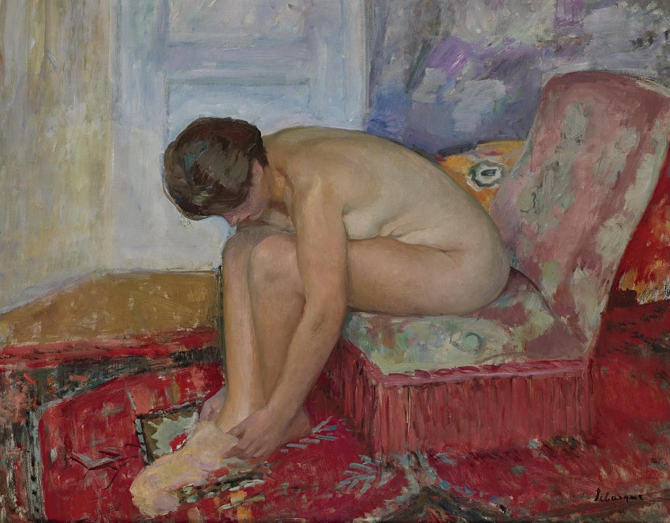 "Анри Лебаск (Henri Lebasque) ""Female Nude Seated"""
