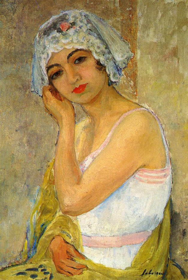 "Анри Лебаск (Henri Lebasque) ""Сидящая молодая женщина"""
