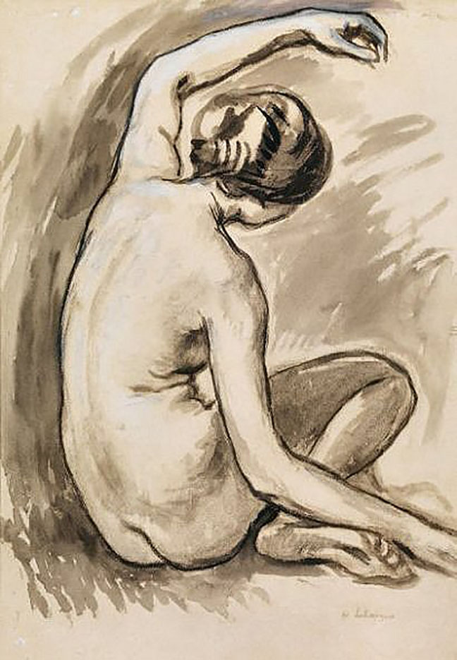 "Анри Лебаск (Henri Lebasque) ""Nu (drawing)"""