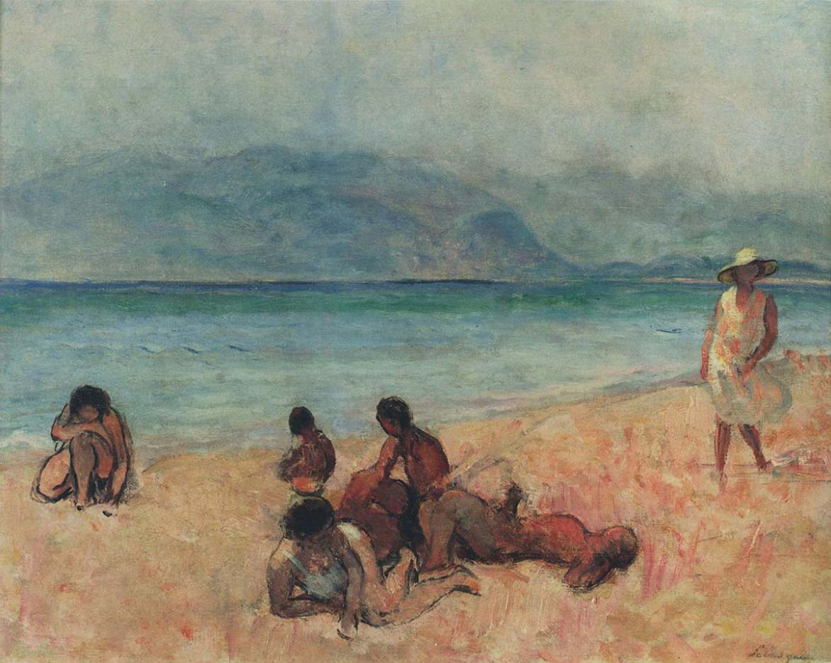 "Анри Лебаск (Henri Lebasque) ""Bathers in Saint-Tropez"""