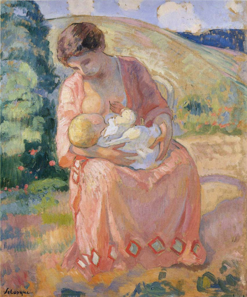 "Анри Лебаск (Henri Lebasque) ""Мать и дитя"""