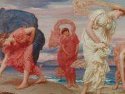 "Фредерик Лейтон (Frederick Leighton), ""Девушки-гречанки, собирающие гальку"""