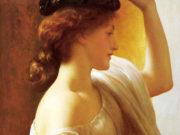 "Фредерик Лейтон (Frederick Leighton), ""Девушка с корзиной фруктов"""