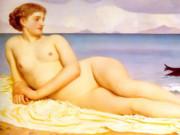 "Фредерик Лейтон (Frederick Leighton), ""Актея, нимфа побережья"""