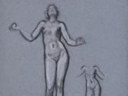 """Фредерик Лейтон (Frederick Leighton), """"Набросок для Античной жонглирующей девушки"""""""