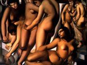 "Тамара Лемпицка (Tamara Lempicka) ""Women Bathing"""