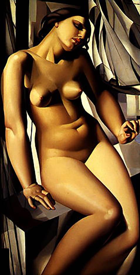 "Тамара Лемпицка (Tamara Lempicka) ""Nude with Sailboats"""
