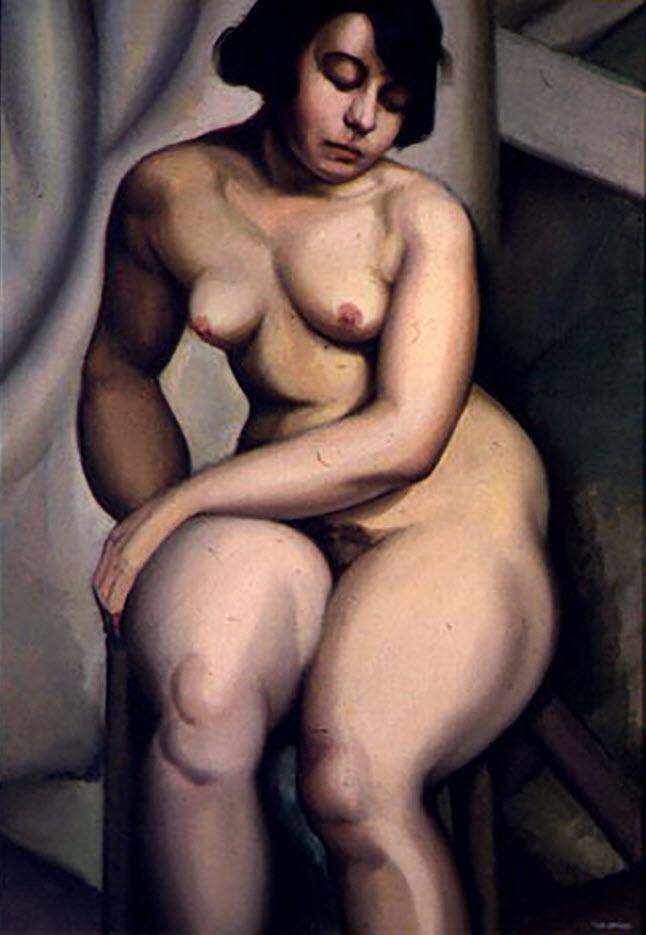 """Тамара Лемпицка (Tamara Lempicka) """"Seated Nude - 2"""""""
