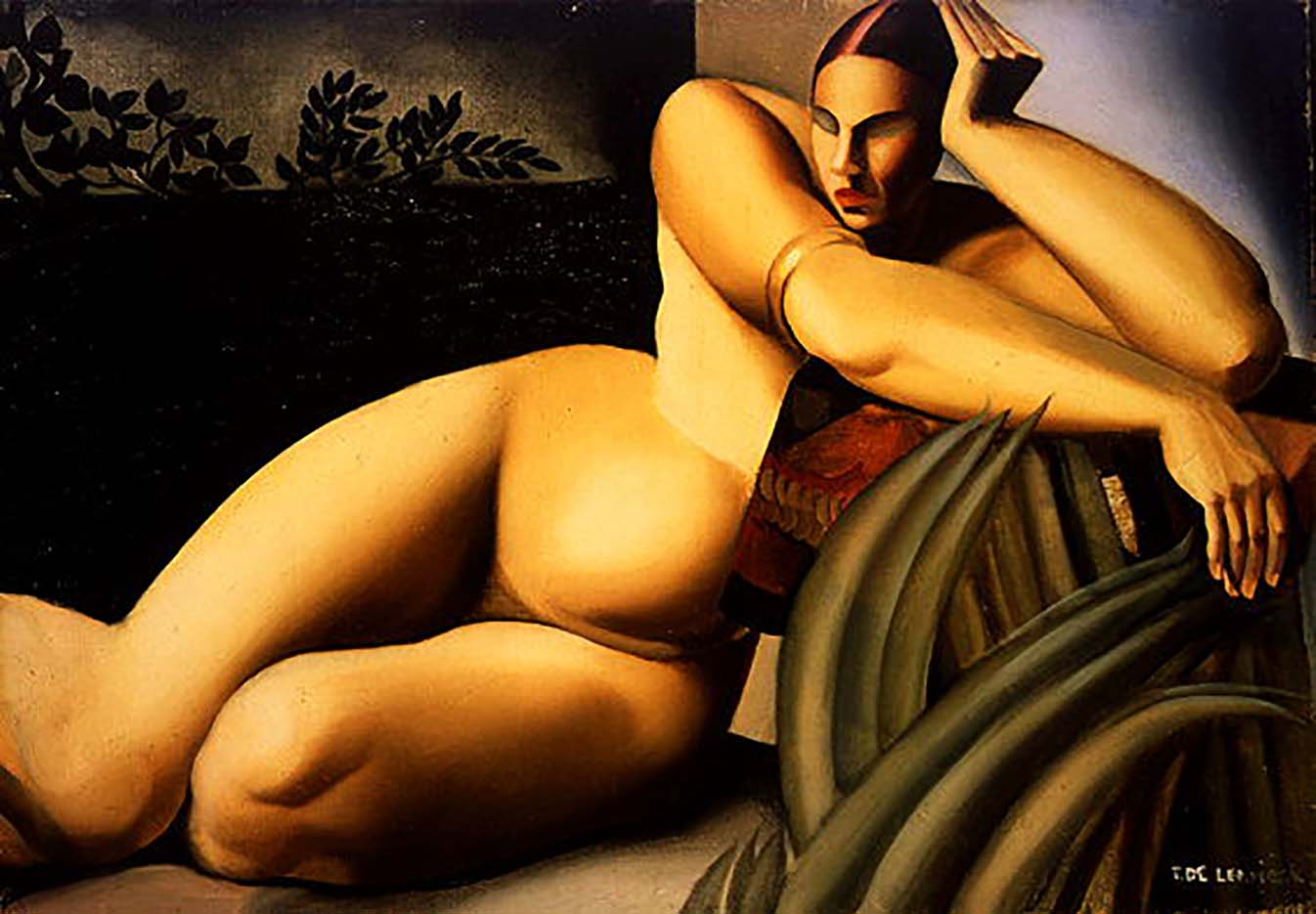"Тамара Лемпицка (Tamara Lempicka) ""Nude on a Terrace"""
