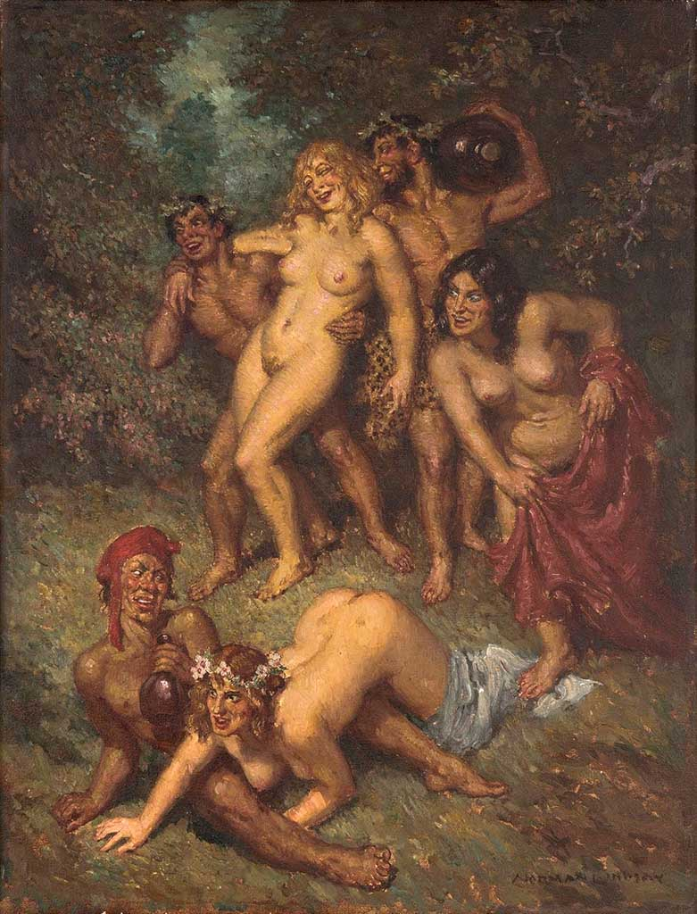 "Норман Линдсей (Norman Lindsay) ""В лесу 