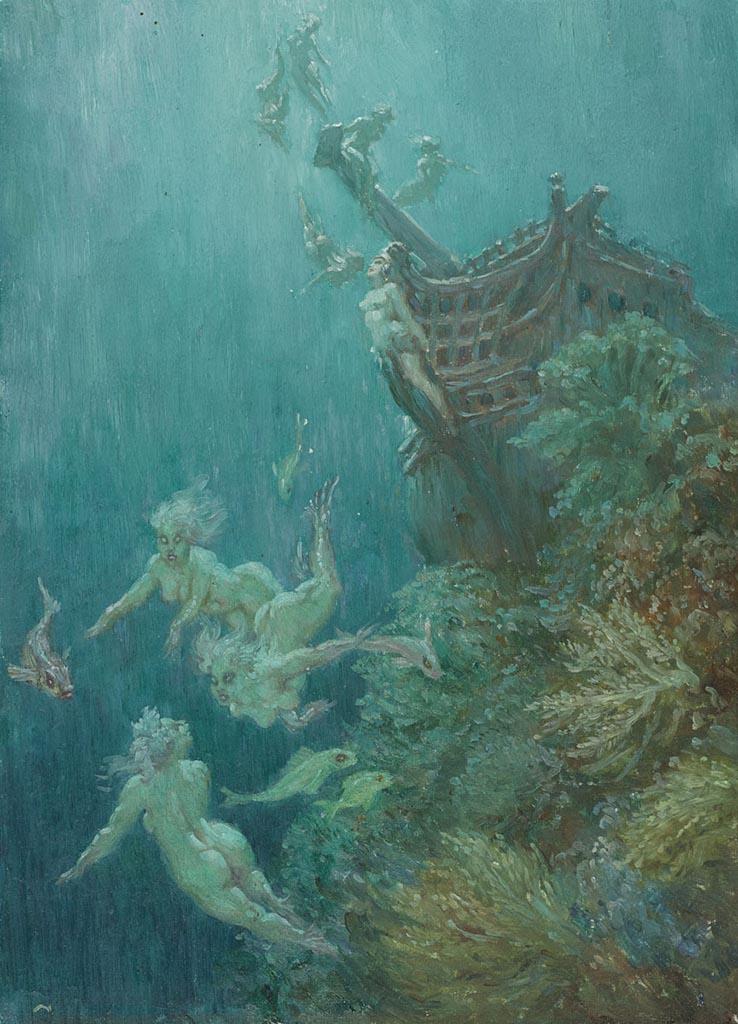 """Норман Линдсей (Norman Lindsay) """"Девы Атлантиды   Maids of Atlantis"""""""