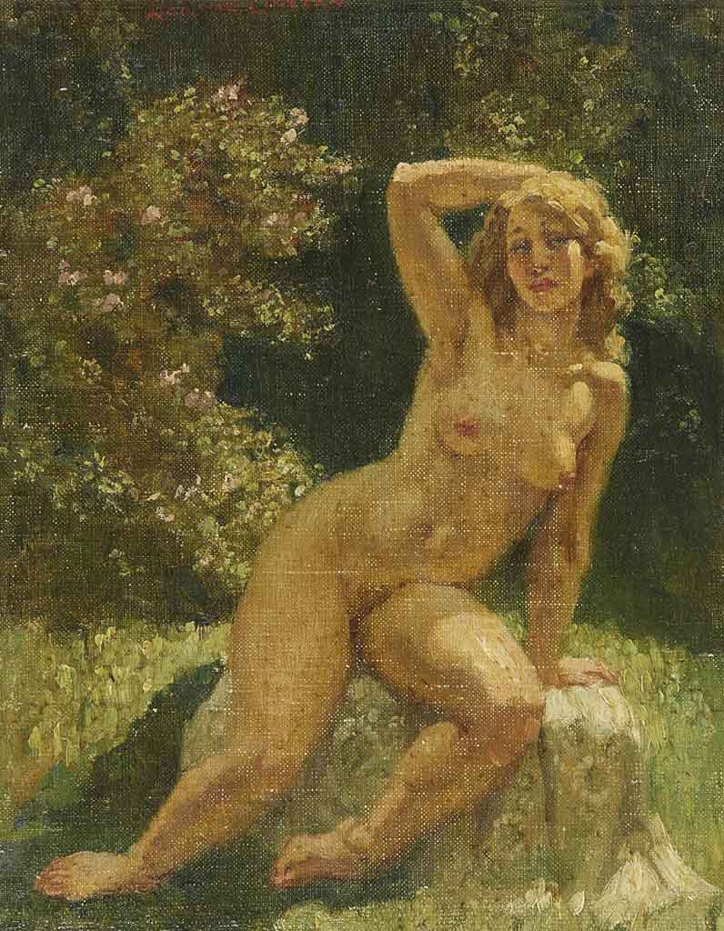 "Норман Линдсей (Norman Lindsay) ""Обнаженная на солнце | Sunlit Nude"""