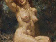 "Норман Линдсей (Norman Lindsay) ""Сидящая обнаженная | Seated Nude"""