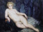 "Норман Линдсей (Norman Lindsay) ""Шезлонг 