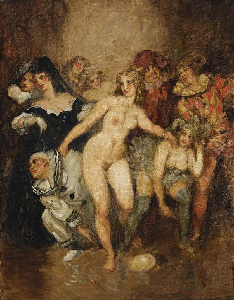 "Норман Линдсей (Norman Lindsay) ""Pierrot and Harlequin"""