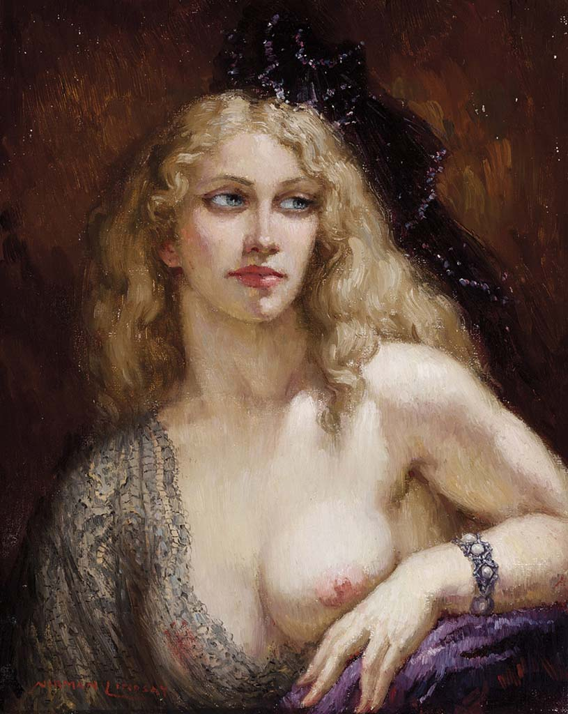 "Норман Линдсей (Norman Lindsay) ""Portrait of Nancy"""