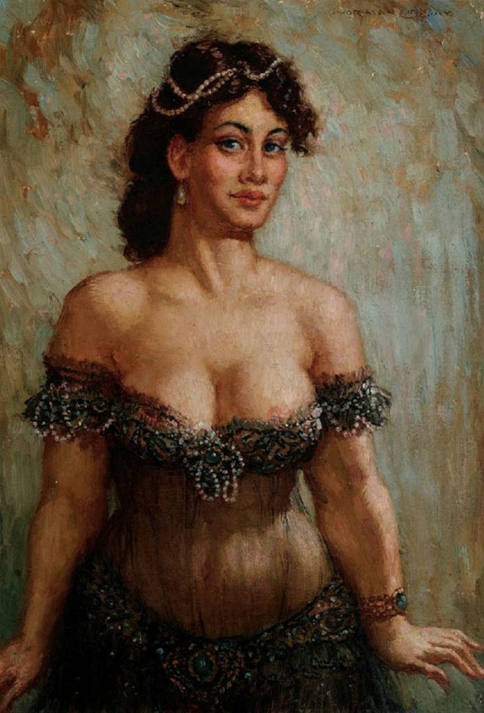 "Норман Линдсей (Norman Lindsay) ""Gypsy Girl"""