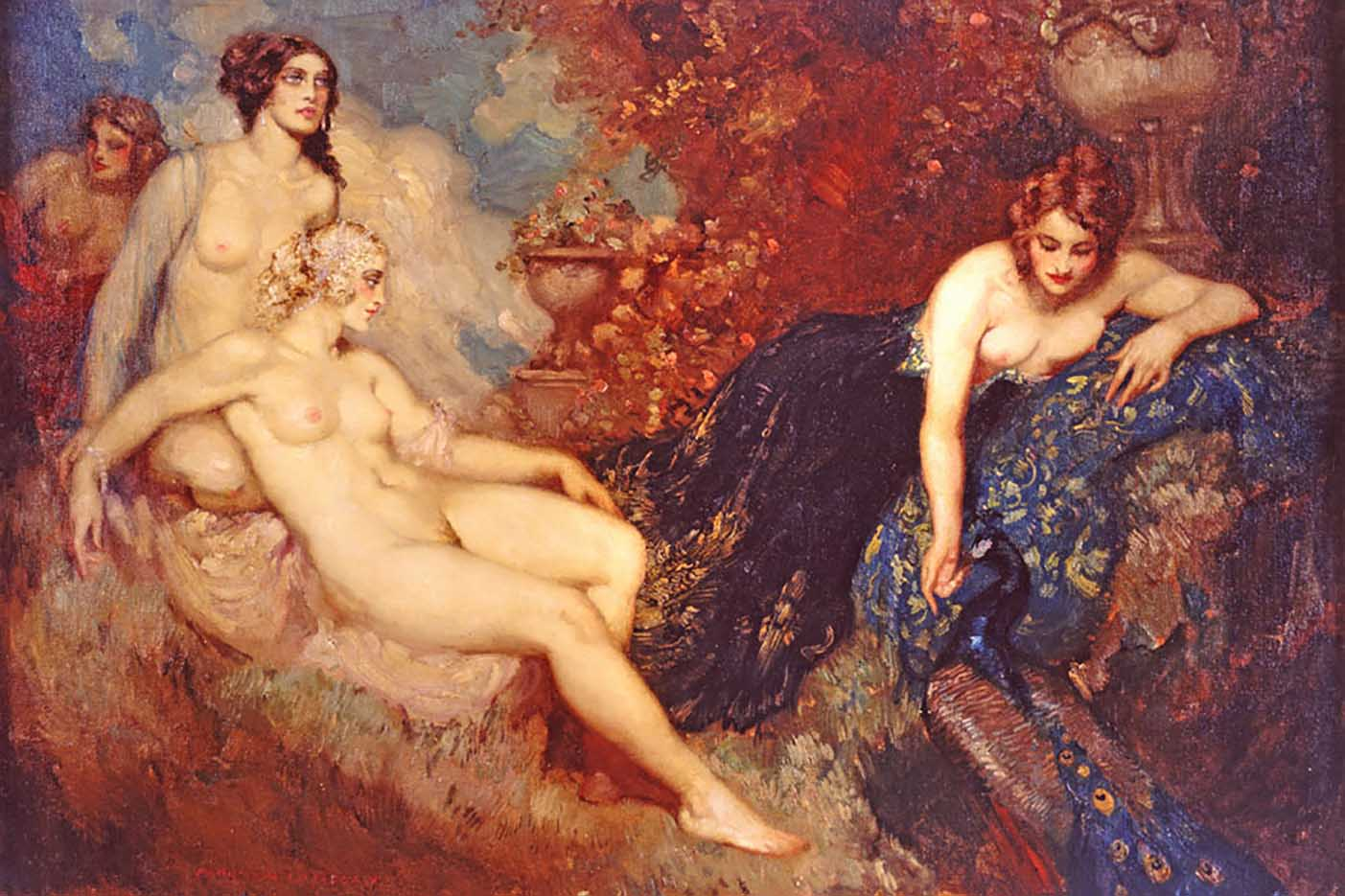 "Норман Линдсей (Norman Lindsay) ""Court to Peacocks"""