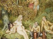 "Норман Линдсей (Norman Lindsay) ""Купальщики 