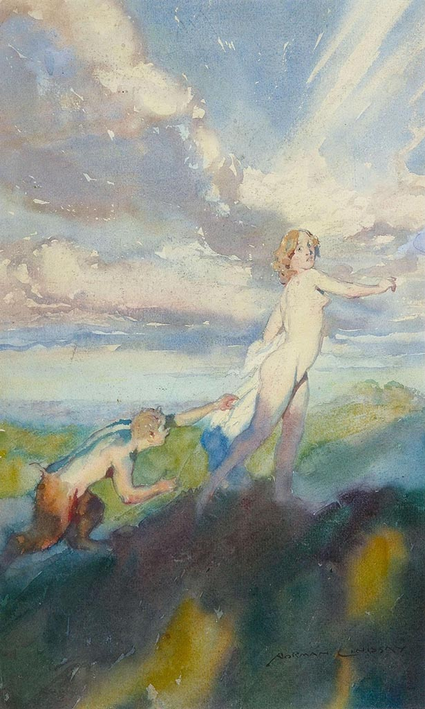 "Норман Линдсей (Norman Lindsay) ""Сатир и нимфа 