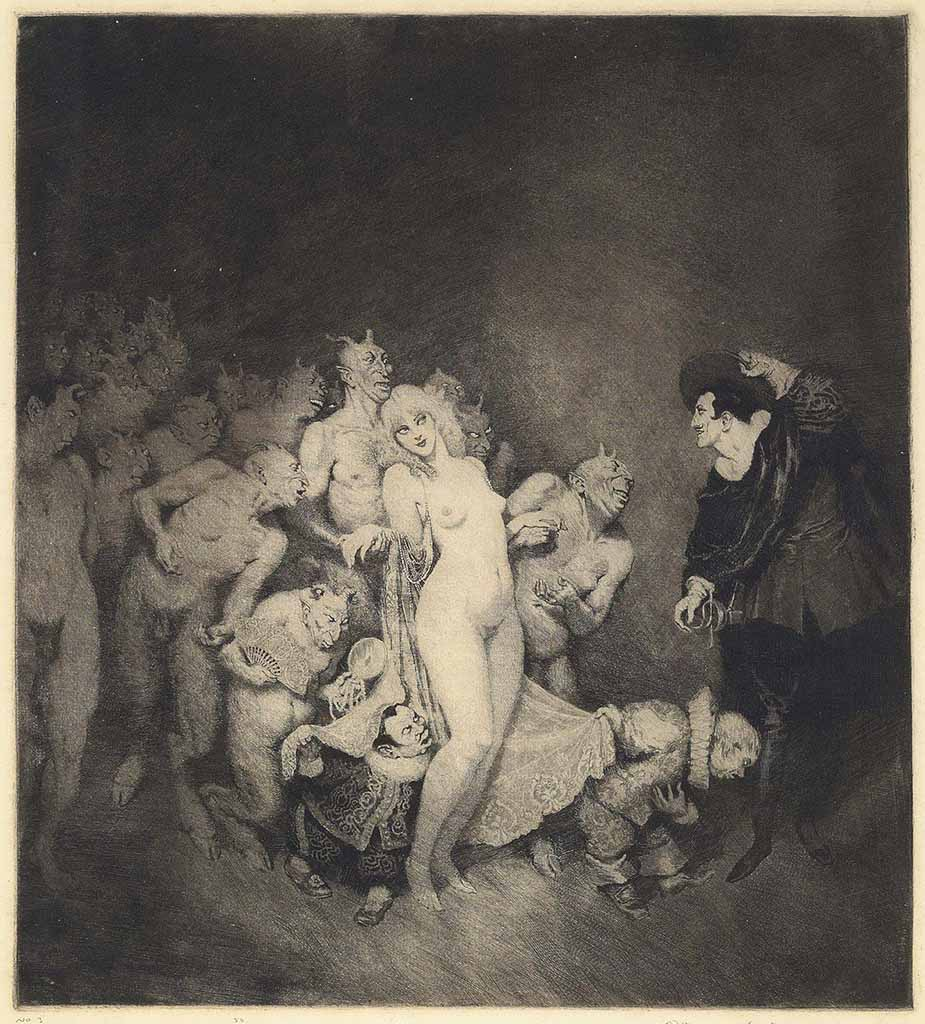 "Норман Линдсей (Norman Lindsay) (Etching) ""Adventure (Etching)"""